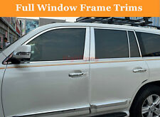 For Toyota Land Cruiser LC200 2008-2016 stainless Full Window Frame Trims