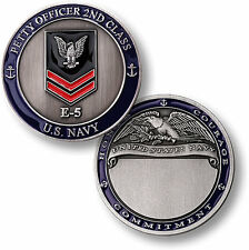 US Navy Petty Officer Second Class Challenge Coin PO2 Crow 2nd E5 USN Rank PO