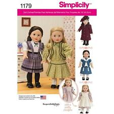 SIMPLICITY SEWING PATTERN 18 INCH DOLL KEEPERS DOLLY DUDS DESIGN DRESS COAT 1179