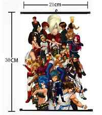 Hot Game KOF King of Fight all members Wall Poster Scroll Home Decor Cosplay 566