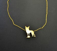 Chinese Crested Dog Necklace Gold Charm Chain Jewellery Neck Lace Gift Pendant