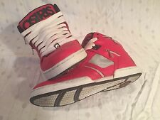 Osiris Bronx Michael Jackson Beat it Shoes Red Size 9.5 Great Condition