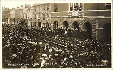 Bridport. Proclamation of King George V by Hare.