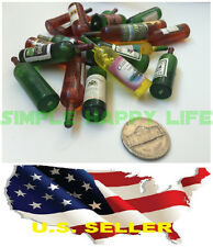 1/6 scale 4 x bottles of wine red/white for Dollhouse Miniature Bar Drink Deco