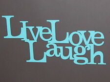 LIVE LAUGH LOVE Wood Word Art Sign Wall Decor Aqua Color