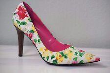 """Women's Lauren Ralph Lauren Floral Fabric High 4"""" Heel Shoe US 8.5 M"""