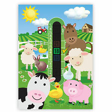 A6 Nursery and Childrens Farmyard Room Thermometers