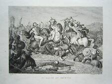 Schlacht am Granikos Alexander der Große Persien sehr seltener Kupferstich 1834