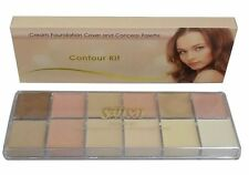 Saffron Contour Kit Cream Foundation Cover and Conceal Palette concealer x12
