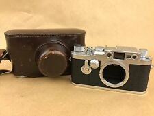 Leica IIIg 35mm Rangefinder Film Camera Body # 847993 w/ Leather Case - Clean