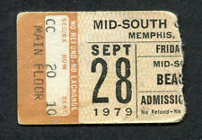 Original 1979 The Beach Boys concert ticket stub Memphis TN Surfin USA