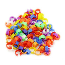 100X Mixed Color Pigeon Leg  plastic Foot Rings Band Inner Diameter 8mm AD