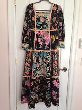 Bill Atkinson Glen Of Michigan Vintage Peasant Dress New w/ Birds Flowers Cotton