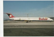 Balair Douglas DC9-82 Aviation Postcard, B008