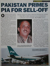 9/1992 ARTICLE 3 PAGES PIA PAKISTAN AIRLINES KARACHI AIRPORT FOKKER F27