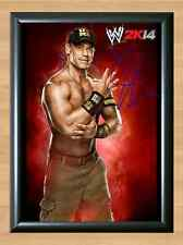 JOHN CENA WWE Signed Autographed A4 Print Photo Poster belt diva wwf psa dna