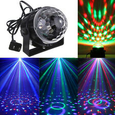 RGB Rotating LED Stage Crystal Magic Ball Club DJ Party Disco Laser Light EU