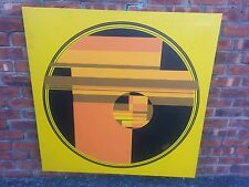 1960's Abstract Geometric painting oil on canvas signed by Dickinson