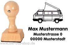 VW Bus T3 - Camper - Motiv-Holz-Stempel - mit Wunschtext