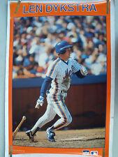 RARE LENNY DYKSTRA METS 1988 VINTAGE ORIGINAL MLB STARLINE BASEBALL POSTER