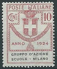 1924 REGNO PARASTATALI SCUOLE MILANO 10 CENT MNH ** - ED421