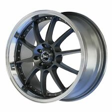 "ULTRALITE SPEC 18"" x 7.5J ET42 5x114.3 5x100 GUN METAL ALLOY WHEELS RIMS Y2514"
