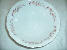 """Vintage Favolina 9"""" Serving Bowl Pink Roses Yellow Blue Flowers Poland"""