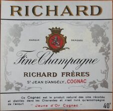 'Richard Champagne' Early French Cognac Labels - 100 PIECES from Printer