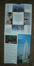 Empire State Building...the world's most famous observatories Vintage Brochure