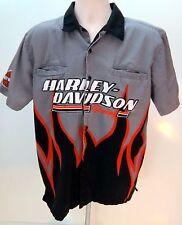 Harley Davidson Motorcycles Racing Screamin' Eagles Shirt Mens Size M Flames