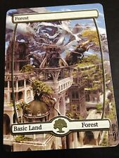 Custom Made Full Art Magic the Gathering Forest Land Fantasy Castle EDH Card