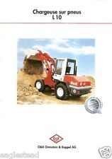 Equipment Brochure - O&K - L 10 - Chargeuse Loader - c1996 French (E1919)