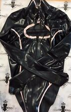 R0597 Rubber Latex Westward Bound Mistress Leotard **BLACK/BABYPINK**  £149 8 UK
