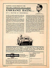 1961 PHIL HILL / MOTORSPORTSMAN OF THE YEAR  ~  ORIGINAL MARTINI & ROSSI AD