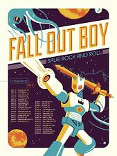 "FALL OUT BOY ""SAVE ROCK & ROLL NORTH AMERICAN TOUR 2013"" CONCERT POSTER"
