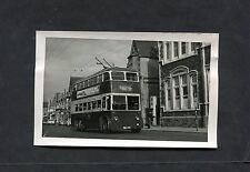 C1960's Photo of a Double Decker Trolley Bus in Cardiff.
