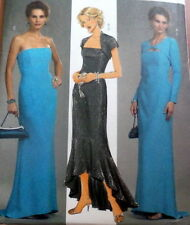 LOVELY EVENING DRESS & SHRUG BUTTERICK Sewing Pattern 6-8-10-12 UNCUT