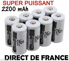 4 Piles Accus Rechargeables CR123A 16340 3.7V 2200Mah BTBAI Li-ion Batteries