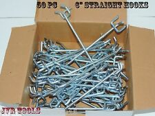 "50-pc 6"" PEG BOARD HOOKS Shelf Hanger Kit 6"" x 1/4"" Garage Storage Hanging Set"