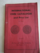 1957 INTERNATIONAL COIN CATALOGUE AND PRICE LIST BOOKLET - TUB M