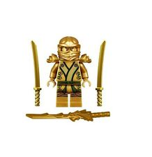 LEGO NINJAGO MINIFIGURE GOLD NINJA LLOYD DRAGON SHAMSHIR SWORDS GOLDEN NINJA