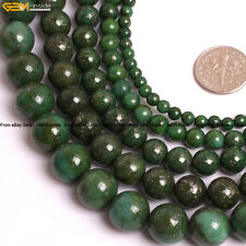 """Round Pyrite Gemstone Beads For Jewelry Making 15"""" Natural Stone Dyed Color"""