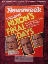 NEWSWEEK April 5 1976 Apr 4/5/76 PRESIDENT RICHARD NIXON: THE FINAL DAYS