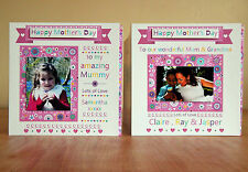 Mother's day Special photo card for Mummy mum. Mothers day personalised card