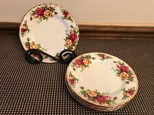 "Royal Albert ""OLD COUNTRY ROSES"" ~ Set of 5 ~ Bread Plates ~ 6 1/4"""