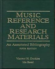 Music Reference and Research Materials : An Annotated Bibliography by Ida...