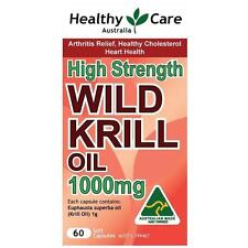 Healthy Care Wild Krill Oil 1000mg 60 Capsules for arthritis; cholesterol; heart
