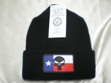 Gov't Issued 100%Wool Military Watch Cap Texas Punisher Beanie Skullcap Knit Hat