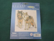 WOLF DUO by Roger Reinardy -  Janlynn - Counted Cross Stitch Kit - NEW