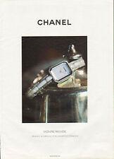 Publicité Advertising 2011  Montre CHANEL montre première collection